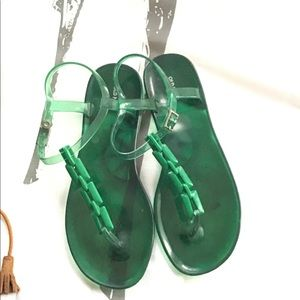 Green sandals. Old navy.